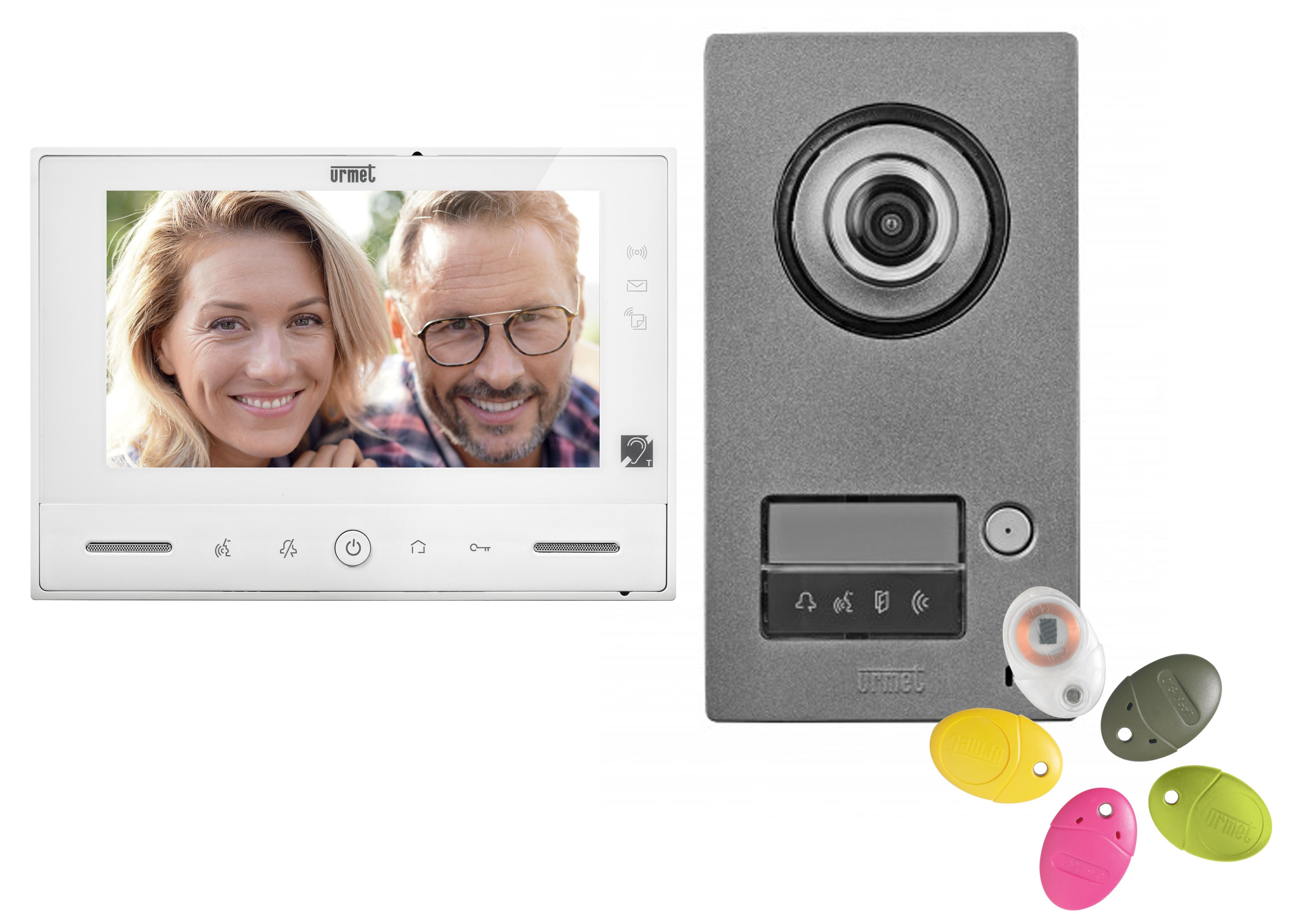 interphonie Caméra 2 Familles Vidéo Porte Sonnette avec interphone